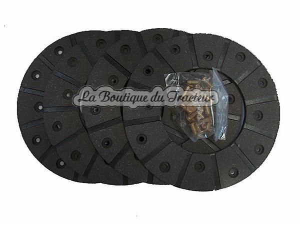 garnitures de frein jeu de 4 avec rivets major 165 mm la boutique du tracteur. Black Bedroom Furniture Sets. Home Design Ideas