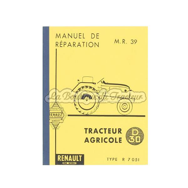 manuel de r paration renault d30 la boutique du tracteur. Black Bedroom Furniture Sets. Home Design Ideas